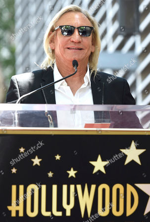 Joe Walsh speaks during a ceremony honoring Al Schmitt with a star on the Hollywood Walk of Fame on in Los Angeles