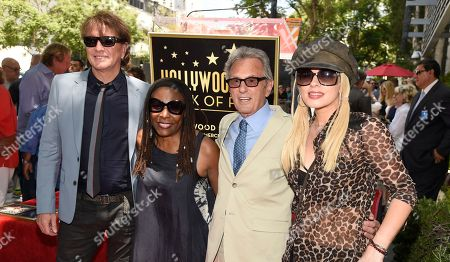 Richie Sambora, from left, Brenda Russell, Al Schmitt and Orianthi pose during a ceremony honoring Schmitt with a star on the Hollywood Walk of Fame, in Los Angeles