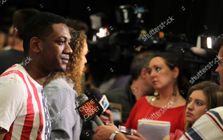 American Idol season 11 contestant Joshua Ledet arrives at the American Idol Live! Tour press junket on in Los Angeles