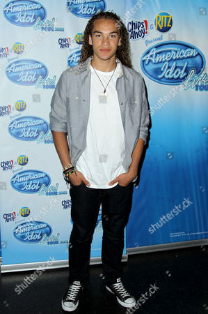 American Idol season 11 contestant DeAndre Brackensick arrives at the American Idol Live! Tour press junket on in Los Angeles