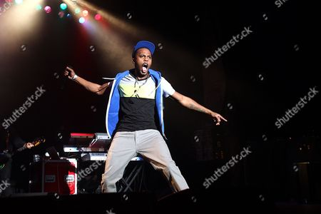 American Rapper Bobby Ray Simmons, Jr., better known by his stage name B.o.B performs at The Paramount in Huntington, New York on