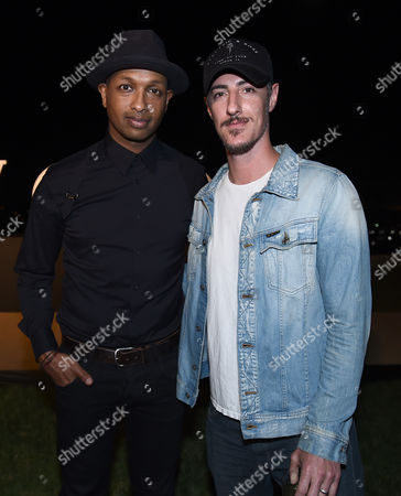 Kenna, left and Eric Balfour attend Billboard & Jimmy Choo's Men of Style, in Los Angeles
