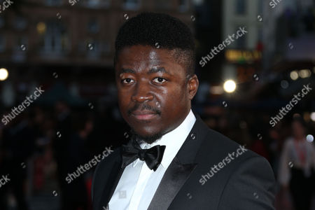 Stock Picture of Actor Merveille Lukeba poses for photographers upon arrival at the premiere of the film 'A United Kingdom', which opens the London Film Festival in London, . The festival runs from Oct. 5 until Oct. 16