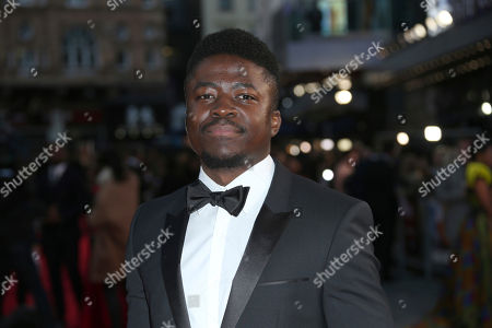 Actor Merveille Lukeba poses for photographers upon arrival at the premiere of the film 'A United Kingdom', which opens the London Film Festival in London, . The festival runs from Oct. 5 until Oct. 16