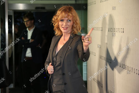 Actress Anna Geislerova poses for photographers upon arrival at the premiere of the film 'Anthropoid' in London