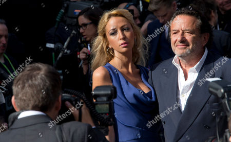 Stock Picture of Ludi Boeken, right and guest, arrive for the World Premiere of World War Z at a central London cinema