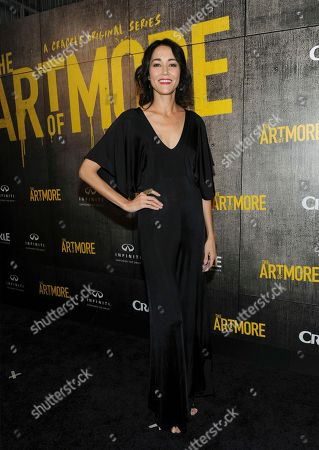 "Sandrine Holt attends Crackle's ""The Art of More"" season two premiere, at the Museum of Arts and Design in New York. Sony's streaming network, Crackle, will launch season two of its first original scripted drama, ""The Art of More,"" on November 16th"