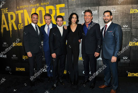 "Eric Berger, left, EVP, Digital Networks, Sony Pictures Television and General Manager, Crackle, joins cast members Cary Elwes, Christian Cooke, Sandrine Holt, Dennis Quaid, and Patrick Sabongui, left to right, at Crackle's ""The Art of More"" season two premiere, at the Museum of Arts and Design in New York. Sony's streaming network, Crackle, will launch season two of its first original scripted drama, ""The Art of More,"" on November 16th"