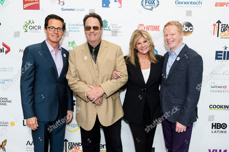 From left, Kyle MacLachlan, Dan Aykroyd, Lisa Paulsen, Jesse Tyler Ferguson, right, seen at EIF Canada Press Conference at MaRS Centre on in Toronto, Canada