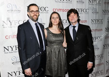 "The Central Park Five"" co-directors David McMahon, Sarah Burns, Ken Burns arrive at the New York Film Critics Circle awards dinner at the Crimson Club on in New York"