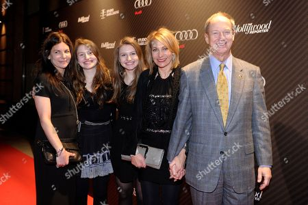 United States Ambassador to Germany John B. Emerson (far right), his wife Kimberly Marteau Emerson (second from right) and their daughters attend The Hollywood Reporter party held at Borchardt's Restaurant to celebrate the 2014 Berlin International Film Festival with Studio Babelsberg and Audi,, in Berlin