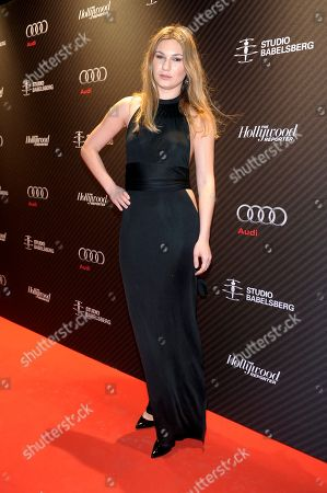 Stock Picture of Katharina Kowalewski attends The Hollywood Reporter Party held at the Borchardt's Restaurant during the 64th Berlinale International Film Festival,, in Berlin