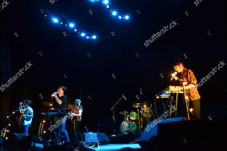 Dan Chang and Michael Garner of Hunter Hunted performing at Verizon Wireless Amphitheatre, in Atlanta