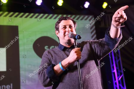 Comedian Eugene Mirman performs at the I F-ing Love Science Channel event during the 2014 SXSW Music, Film + Interactive Festival at Stubb's BBQ on in Austin Texas