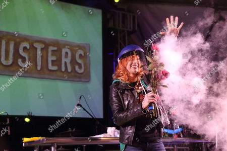 Kari Byron from Mythbusters performs at the I F-ing Love Science Channel event during the 2014 SXSW Music, Film + Interactive Festival at Stubb's BBQ on in Austin Texas
