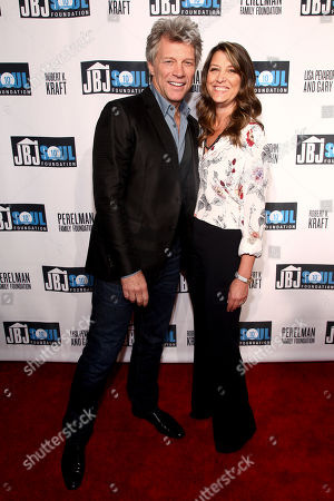 Jon Bon Jovi, left, and Dorothea Hurley, attend the Jon Bon Jovi Soul Foundation (JBJSF) benefit gala, celebrating ten years of combating hunger and homelessness, at The Garage, in New York