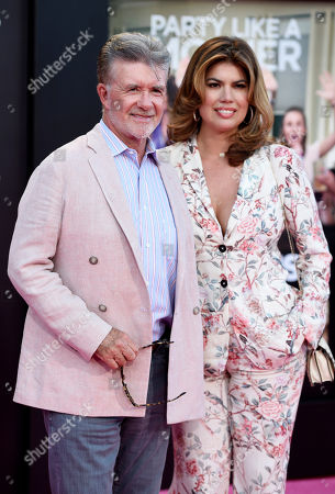 """Alan Thicke and his wife Tanya pose together at the premiere of the film """"Bad Moms"""" at the Mann Village Theatre, in Los Angeles"""
