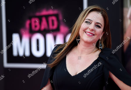 "Annie Mumolo, a cast member in ""Bad Moms,"" poses at the premiere of the film at the Mann Village Theatre, in Los Angeles"