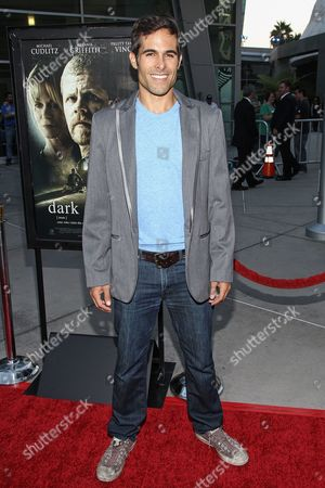 "Actor Christopher Wolfe arrives at the premiere of ""Dark Tourist"" at the ArcLight Cinemas on in Los Angeles"