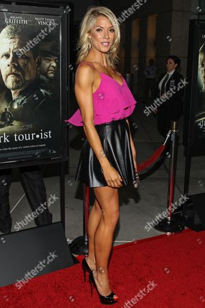 "Actress Suzanne Quast arrives at the premiere of ""Dark Tourist"" at the ArcLight Cinemas on in Los Angeles"