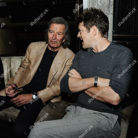 "Stock Image of Bob Shaye, left, and producer Jason Blum attend the after party for the LA Premiere Of ""Insidious: Chapter 3"" held the Emerson Theatre, in Los Angeles"