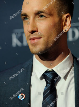 """Stock Photo of Will Rothhaar, who plays Lee Harvey Oswald in the film """"Killing Kennedy,"""" poses at the premiere of the film at the Saban Theatre, in Beverly Hills, Calif"""