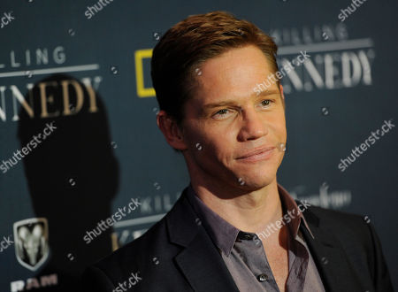 """Jack Noseworthy, a cast member in """"Killing Kennedy,"""" poses at the premiere of the film at the Saban Theatre on in Beverly Hills, Calif"""
