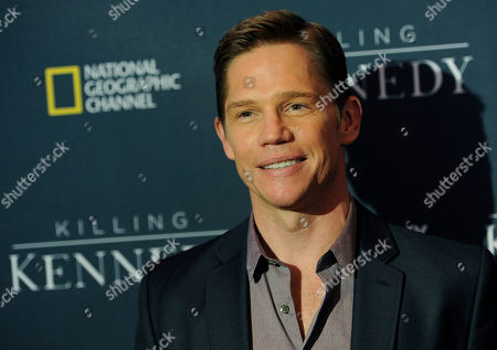 """Jack Noseworthy, who plays Bobby Kennedy in """"Killing Kennedy,"""" poses at the premiere of the film at the Saban Theatre, in Beverly Hills, Calif"""