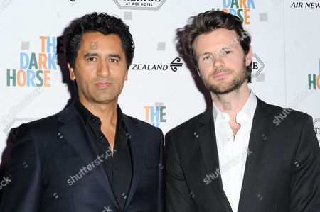 "Cliff Curtis, left, and James Napier Robertson attend the LA Premiere of ""The Dark Horse"" held at The Theatre at Ace Hotel, in Los Angeles"