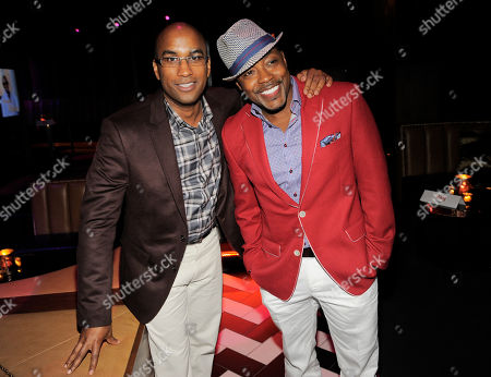 "Tim Story, left, director of ""Think Like A Man Too,"" poses with the film's producer William Packer at the post-premiere party for the film on in West Hollywood, Calif"