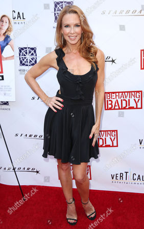 "Stock Photo of Challen Cates arrives at a special screening of ""Behaving Badly"" on in Los Angeles"
