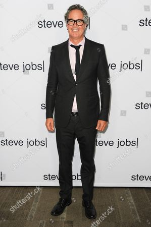 """Guymon Casady arrives at the LA Special Screening of """"Steve Jobs"""" at the Samuel Goldwyn Theater, in Beverly Hills, Calif"""