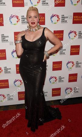 Stock Photo of Calpernia Addams poses at the Los Angeles LGBT Center's 46th Anniversary Gala Vanguard Awards at the Hyatt Regency Century Plaza, in Los Angeles