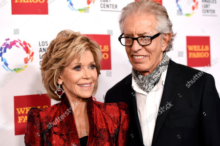 Honoree Jane Fonda and her boyfriend Richard Perry pose together at the Los Angeles LGBT Center's 46th Anniversary Gala Vanguard Awards at the Hyatt Regency Century Plaza, in Los Angeles