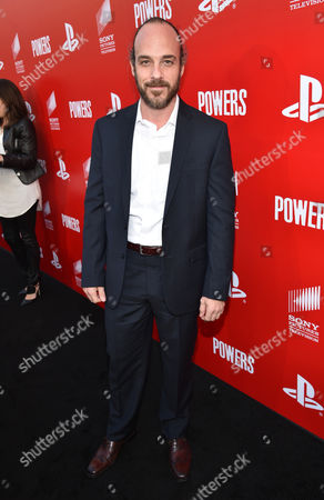 """Stock Photo of Phillip DeVona attends the Los Angeles premiere of PlayStation's original series """"Powers"""" at Sony Pictures Studios on . """"Powers"""" premieres March 10 on PlayStation Network"""