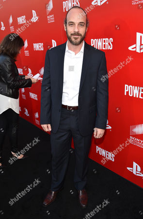 """Stock Image of Phillip DeVona attends the Los Angeles premiere of PlayStation's original series """"Powers"""" at Sony Pictures Studios on . """"Powers"""" premieres March 10 on PlayStation Network"""