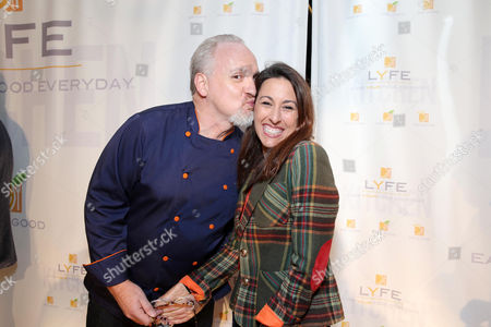 Chef Art Smith and Janet Evans at the second Lyfe Kitchen grand opening celebration on in Culver City, CA