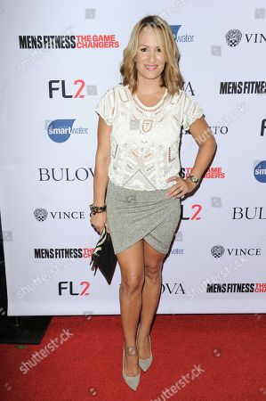 """TV personality Jenn Brown arrives at Men's Fitness Magazine's """"Game Changers"""" Celebration, at Palihouse in West Hollywood, Calif"""