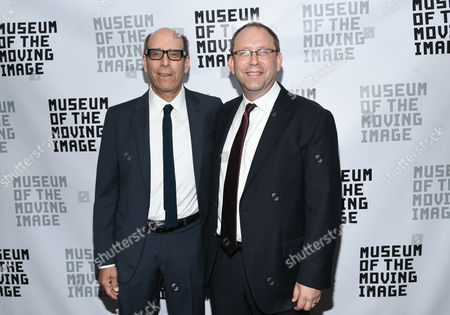 Museum of the Moving Image executive director Carl Goodman, right, poses with Matt Blank at the Museum of the Moving Image's 2016 Industry Tribute at the St. Regis Hotel, in New York