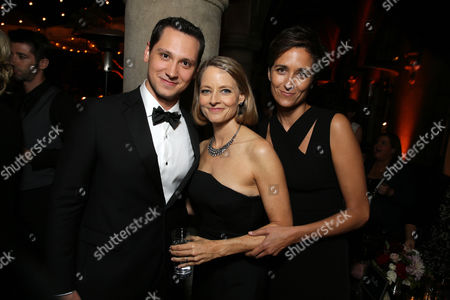 EXCLUSIVE Matt McGorry, Jodie Foster and Alexandra Hedison seen at the Netflix Celebration of the 66th Primetime Emmy Awards held at the Chateau Marmont, in Los Angeles