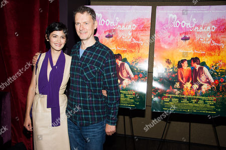 """Audrey Tautou and director Michel Gondry attend the premiere of """"Mood Indigo"""" on in New York"""