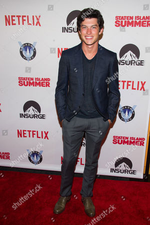 """Graham Phillips attends the premiere of """"Staten Island Summer"""" at the Sunshine Landmark Theater, in New York"""