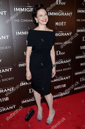 """Stock Photo of Maja Wampuszyc attends the premiere of """"The Immigrant"""" hosted by The Weinstein Company with Dior and Vanity Fair at The Paley Center, in New York"""