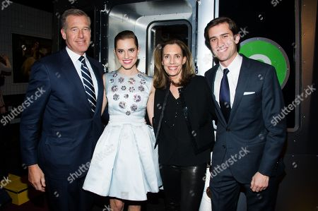 """Stock Picture of Brian Williams, from left, Allison Williams, Jane Stoddard Williams and Douglas Williams attend the after party following the premiere of HBO's """"Girls"""" third season on in New York"""