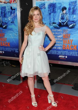 """Stock Photo of Actress Devon Werden attends the premiere for """"The Way, Way Back"""" at the AMC Loews Lincoln Square on in New York"""