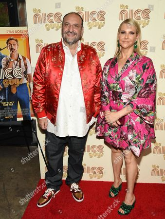 "Producer Joel Silver and wife Karyn Silver attend a special screening of ""The Nice Guys"" at Metrograph, in New York"