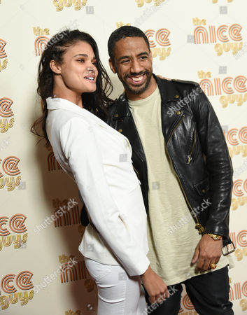 """Model Daniela Braga and singer Ryan Leslie attend a special screening of """"The Nice Guys"""" at Metrograph, in New York"""