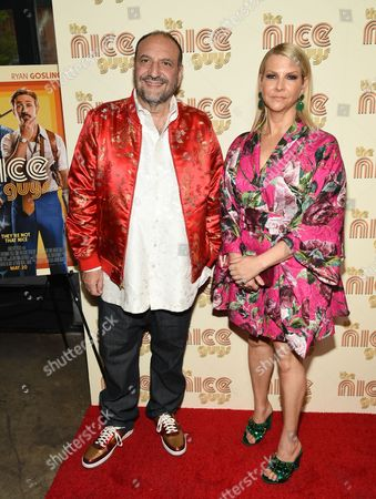 "Stock Image of Producer Joel Silver and wife Karyn Silver attend a special screening of ""The Nice Guys"" at Metrograph, in New York"
