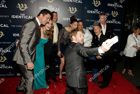 "From left, actors Blake Rayne, Erin Cottrell, Joe Pantoliano, Seth Green, Amanda Crew, Waylon Payne, Noah Urrea and Ray Liotta attend the premiere of ""The Identical"" on in New York"