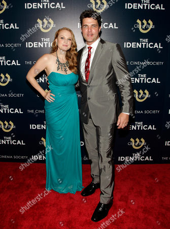 "Actress Erin Cottrell, left, and actor Blake Rayne, attend the premiere of ""The Identical"" on in New York"